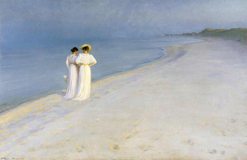 Sommerabend auf Skagen Sønderstrand, Peder Severin Krøyer von Meesterlijcke Meesters