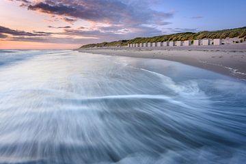 Huisjes aan het strand van Westenschouwen van Ellen van den Doel