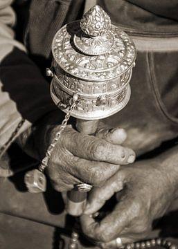 Boeddhistische gebedsmolen in werking van Affect Fotografie