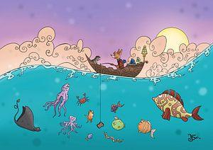 Vissen op de oceaan