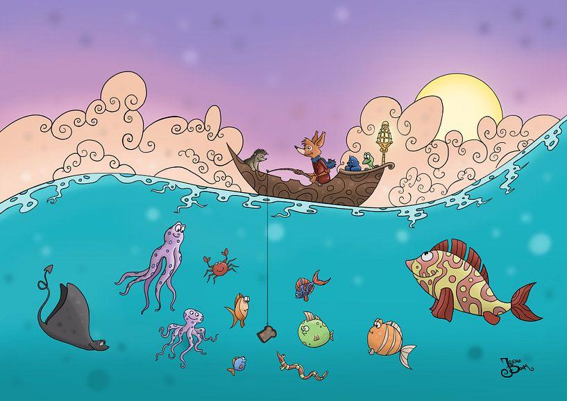 Vissen op de oceaan  von Jesse Boom