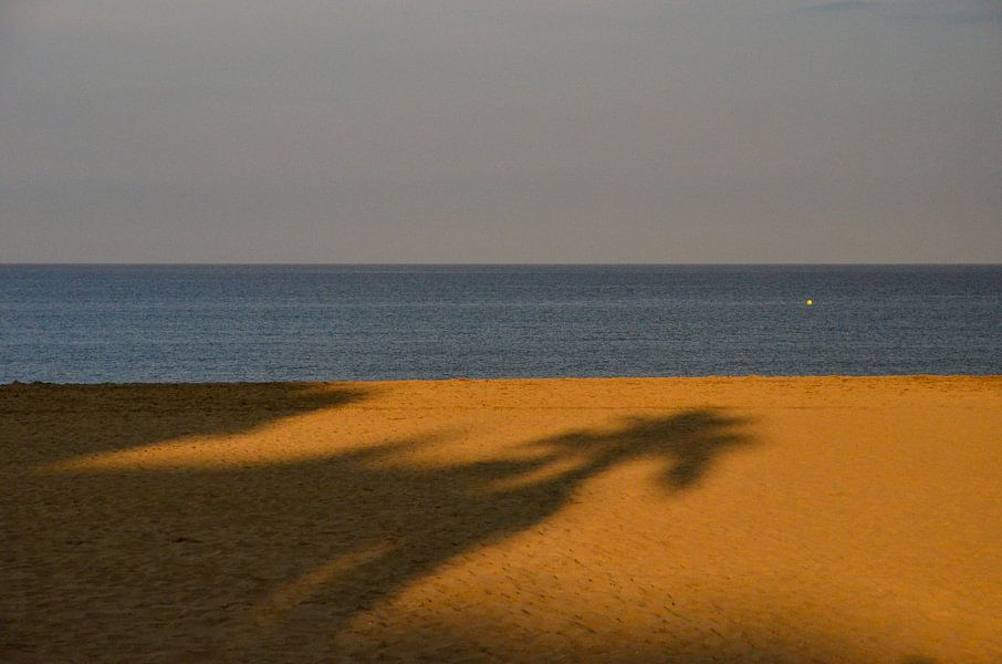 Schaduw op het strand