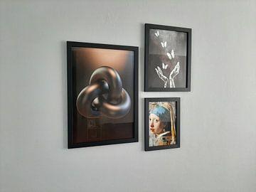 Klantfoto: Escher Trefoil knoop van Chrisjan Peterse