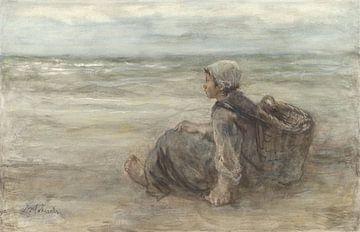 Fischermädchen am Strand - Jozef Israëls