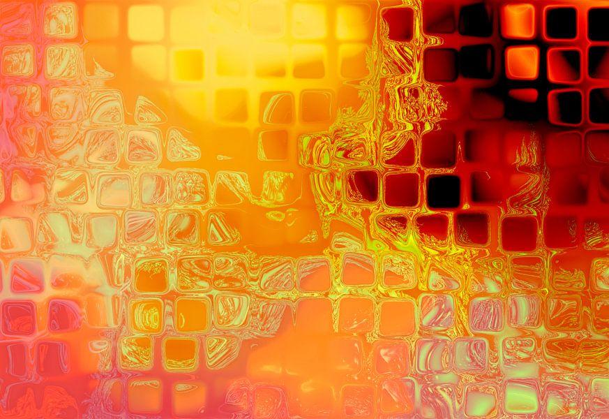 Orange grid van Rosi Lorz