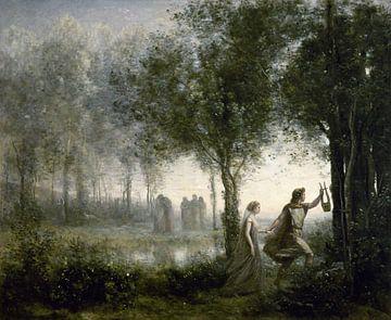 Orpheus leidt Eurydice uit de onderwereld, Jean-Baptiste-Camille Corot van