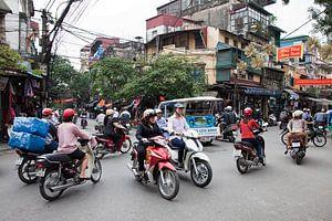 Straatbeeld in Hanoi, Vietnam