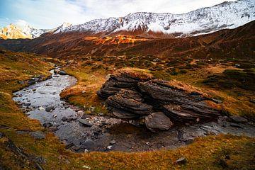 Der Fluss Tessin in herbstlichen Farben, Valle Bedretto - Schweiz von Felina Photography