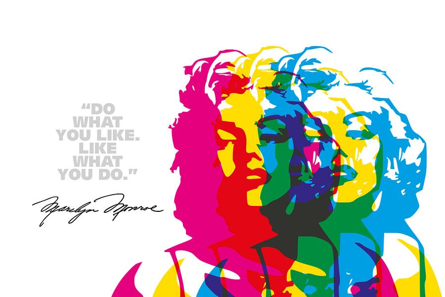 Marilyn Monroe Quote van Harry Hadders
