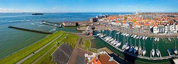Panorama Vlissingen oude haven en centrum