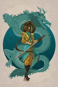Samurai Girl van Erik van Wijk