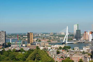 panorama Erasmusbrug Rotterdam. van Brian Morgan