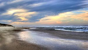 Texelse strand nabij strandpaal 15