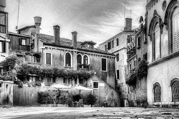 Venetie  Italy,  Digitale kunst zwartwit
