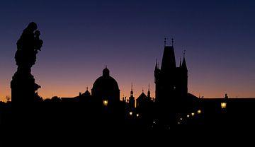 Sonnenaufgang Karlsbrücke, Prag von Adelheid Smitt
