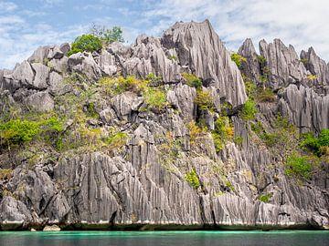 De bijzondere rotsen van Coron Island in paradijs Palawan van Rik Pijnenburg
