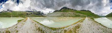 360 Gletsjer panorama Zwitserland von Dennis van de Water