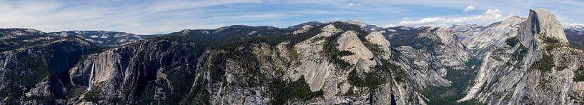 Yosemite National Park, panorama met El Capitan van Henk Alblas