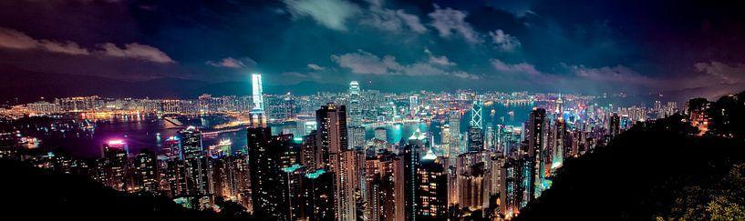 Hong Kong Skyline van W Machiels