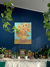 Kundenfoto: Zwölf Sonnenblumen - Vincent van Gogh, auf leinwand