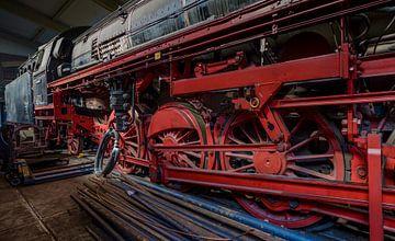 Locomotief Stoomdepot Rotterdam van Mario Brussé