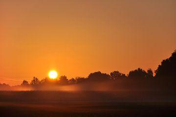 Sonnenaufgang in der Achterhoek von Renzo de Jonge