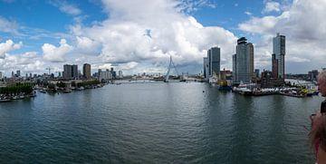 Panorama Rotterdam Head of South mit Erasmus Bridge von Hans Verhulst