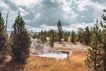 De prachtige natuur van Yellowstone met heet water pool van Maarten Oerlemans
