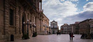 Piazza Duomo, Ortigia, Siracusa, Italie van