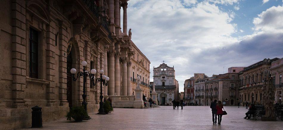 Piazza Duomo, Ortigia, Siracusa, Italie