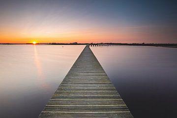 Sonnenuntergang im Herbst von P Kuipers