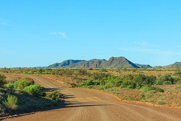 Een onverharde weg in de Australische Outback van Henk van den Brink