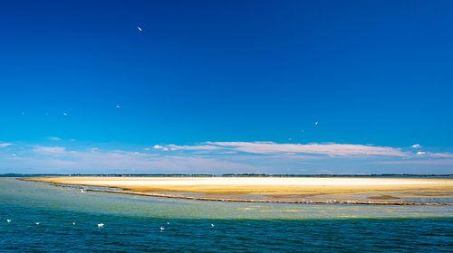 Zandbank voor de kust van Rügen, Duitsland