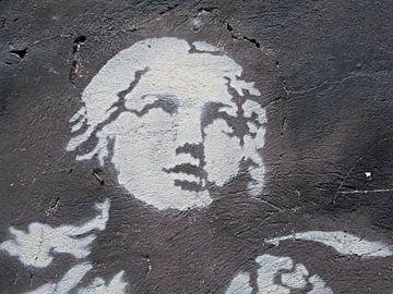 Oude muurschildering Italië van Atelier Liesjes