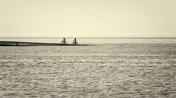 Fietsers aan Zee van