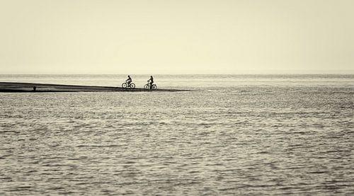 Fietsers aan Zee