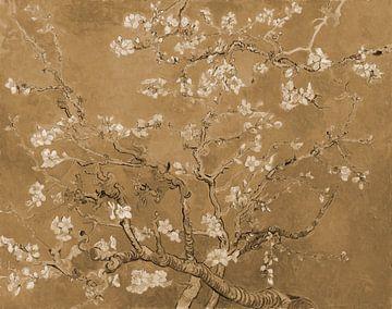 Mandelblüte von Vincent van Gogh (Sepia)