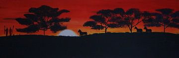 Savanne - Pferde  van Babetts Bildergalerie