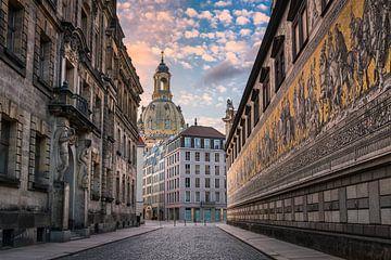 Historische stad Dresden van Michael Abid