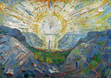 Edvard Munch, De Zon, 1912 van Atelier Liesjes