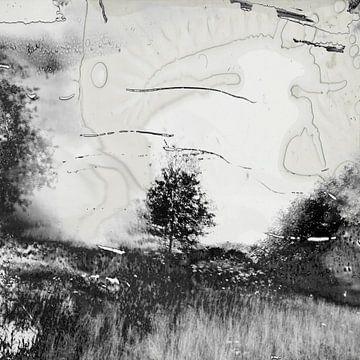 landschap onder destructie #03 van Peter Baak