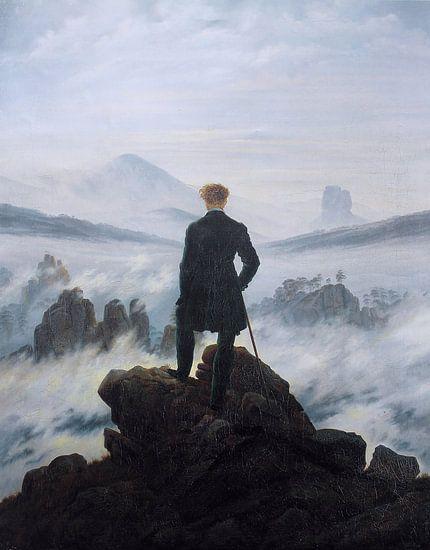 De wandelaar boven de nevelen, Caspar David Friedrich