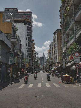 De drukke straten van Ho Chi Minh in Vietnam, Azië van Danny Vermeulen