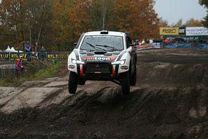 Jumping rally car