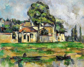 Cezanne, Ufer der Marne - 1888 von Atelier Liesjes