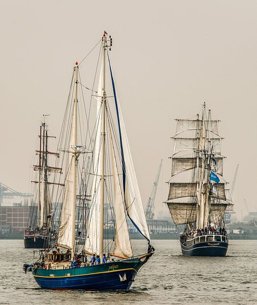 Drietal Tall Ships van Harrie Muis