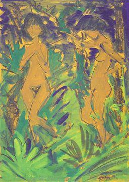 Zwei Akte im Freien, Otto Mueller - 1924-1927 von Atelier Liesjes
