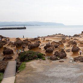 Panorama Yehliu Geopark Taiwan van Kees van Dun