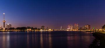 Skyline Rotterdam met Euromast en Erasmusbrug van Marcel Krol