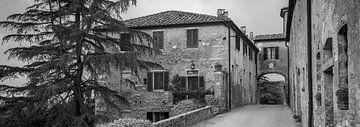 Monochrome Toskana im Format 6x17, Lucignano d'Asso II von Teun Ruijters